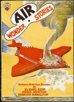 Air Wonder Stories scifi magazine cover, Destroyimg Waterspout