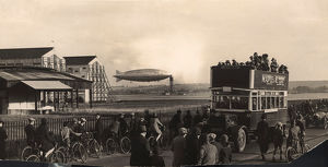 Airship R101 G-FAAW moored outside the hangars
