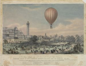 Ascent of Coxwell's balloon, Crystal Palace, London