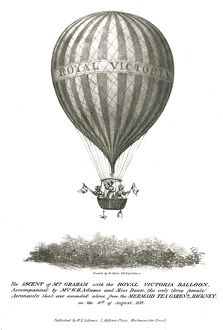 Ascent of Mrs. Graham and the Royal Victoria Balloon