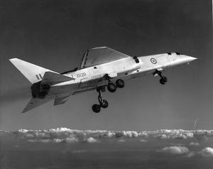 BAC TSR-2 XR219 in flight with undercarriage down