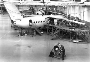 The BAe146 production line at Hatfield