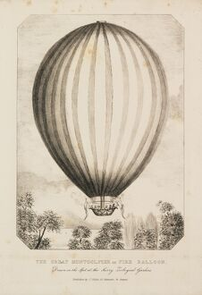 Balloon ascent on Queen Victoria's birthday
