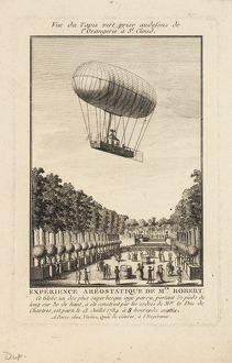 Balloon ascent from St Cloud, Paris