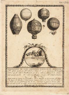Balloon designs by Charles & Robert and Montgolfier