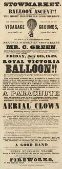 Balloon event, Charles Green, Stowmarket