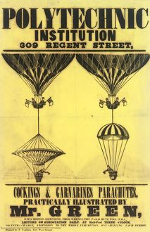 Balloon and parachute lecture, Charles Green