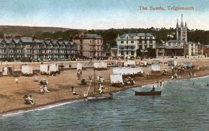 The beach, Teignmouth, Devon, England