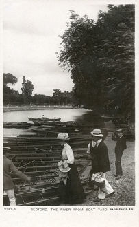 new items grenville collins collection/bedford bedfordshire river seen boat yard