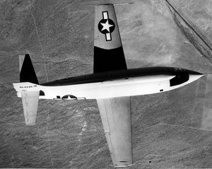 Bell X-1-2 in flight from above
