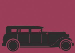 Black Car on Maroon Background