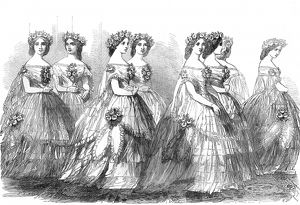 Bridesmaids at the wedding of the Princess Royal,1858