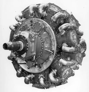 Bristol Hercules 736 14-cylinder radial Front port view