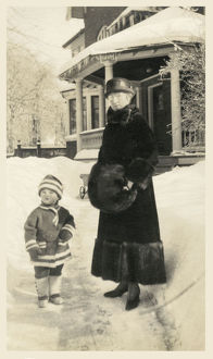 new items grenville collins collection/canada grandmother young grandchild outside