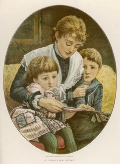 CHILD MOTHER READS 1879