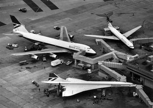 Concorde G-BOAA a Boeing 747 and a VC10