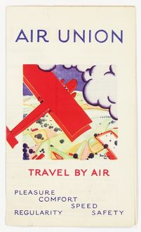 Cover design, Air Union timetable