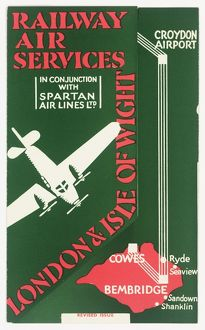 Cover design, Railway Air Services timetable