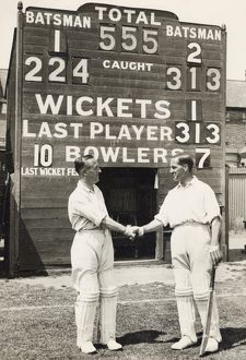 CRICKETING RECORD 1932