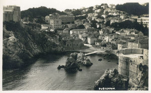 new items grenville collins collection/croatia dubrovnik unusual view inland section