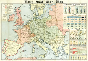 daily mail war map ww1