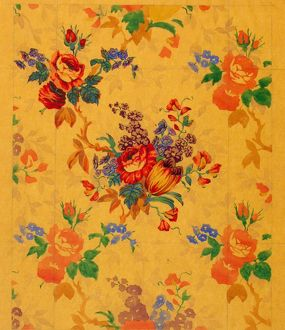 Design for Chintz with flowers