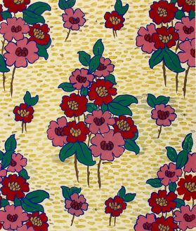 Design for Printed Textile with flowers