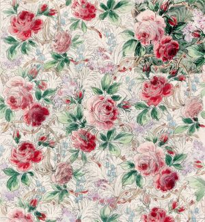 Design for Printed Textile with pink roses