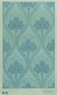 Design for Wallpaper in blue and green