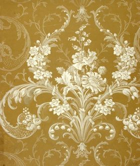 Design for Wallpaper in gold and cream