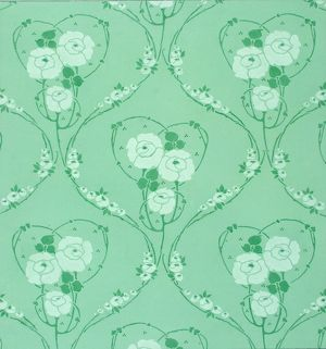 Design for Wallpaper in green and blue