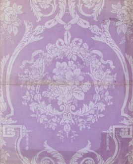Design for Wallpaper in mauve and white