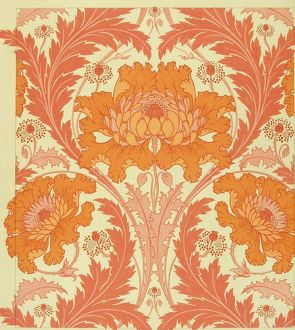 Design for Wallpaper in orange and pink