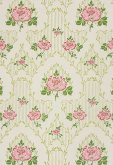 Design for Wallpaper with pink flowers