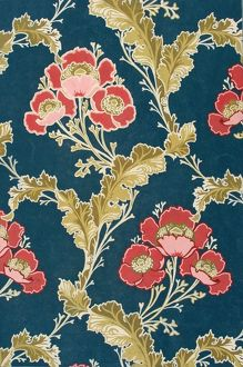 Design for Wallpaper in red, blue and brown