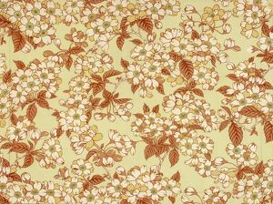 Design for Wallpaper in white, brown and green