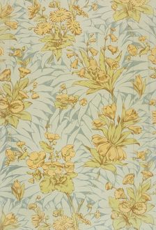 Design for Wallpaper in yellow, green and grey