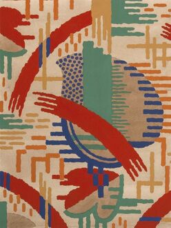 Design for Woven Textile, art deco style