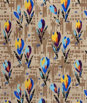 Design for Woven Textile with crocuses