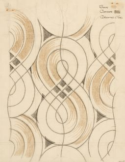 Design for Woven Textile in grey and beige