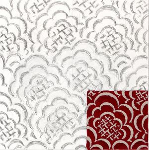 Design for Woven Textile in red and cream