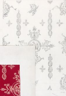 Design for Woven Textile in red and pink