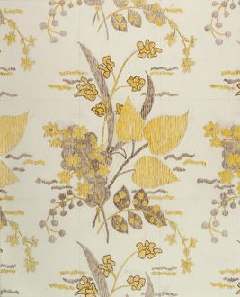 Design for Woven Textile in yellow and grey