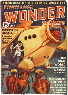 The Dual World, Thrilling Wonder Stories Scifi Magazine Cover