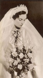 The Duchess of Gloucester on her wedding day.
