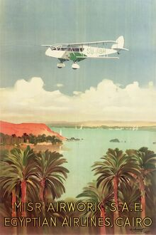 Egyptian Airlines Poster