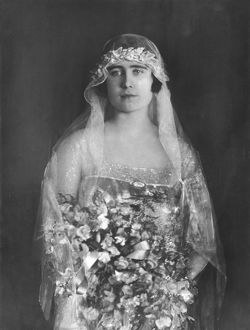 Elizabeth Bowes-Lyon as a bridesmaid
