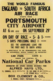 England to South Africa Air Race Poster