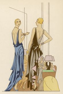 TWO IN EVENING DRESSES