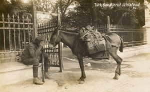 Exhausted soldier and horse, Turkey